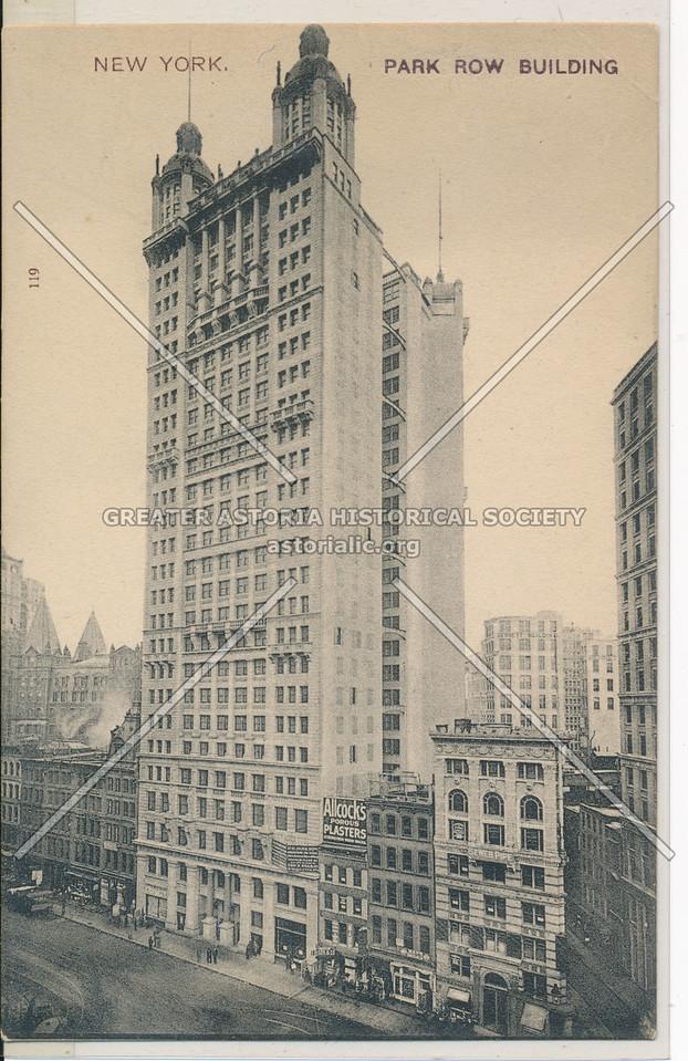 New York. Park Row Building