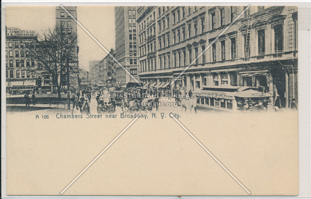 Chambers Street near Broadway, N.Y. City