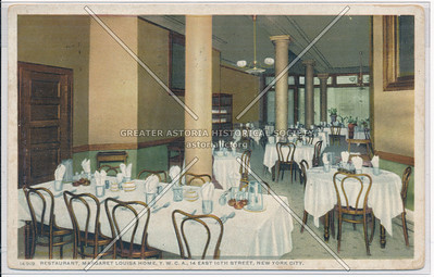 Restaurant, Margaret Louisa Home, Y.W.C.A., NY