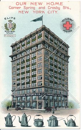 Rothschild, Meyers Enameled Ware, Spring & Crosby St, NY