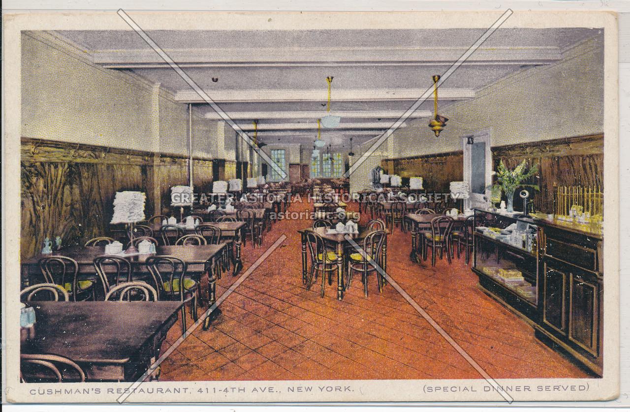 Cushman's Restaurant, 411 4th Ave, NY