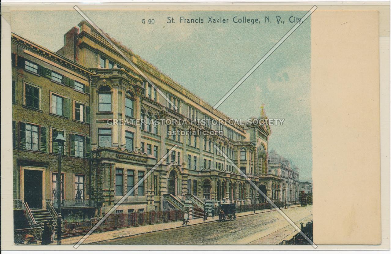 St. Francis Xavier College, N.Y., City.