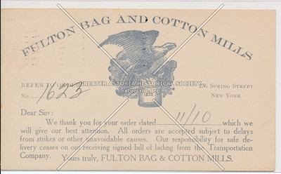 Fulton Bag and Cotton Mills, 236 Spring Street, NY