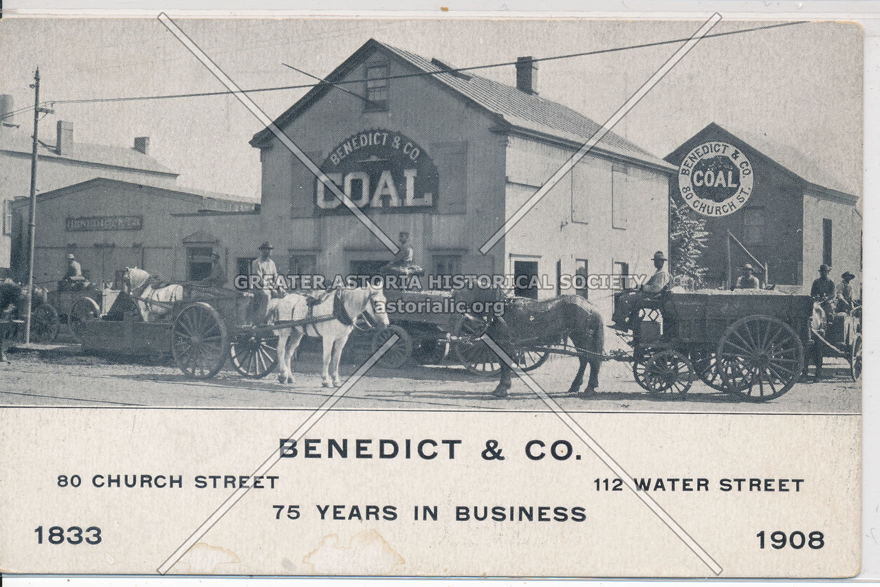 Benedict & Co, Coal, 80 Church St, 112 Water St, NY