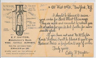 E. F. Dayton Light Chimneys, 137 W 15 St, NY
