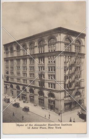 Alexander Hamilton Institute, 13 Astor Place, NY