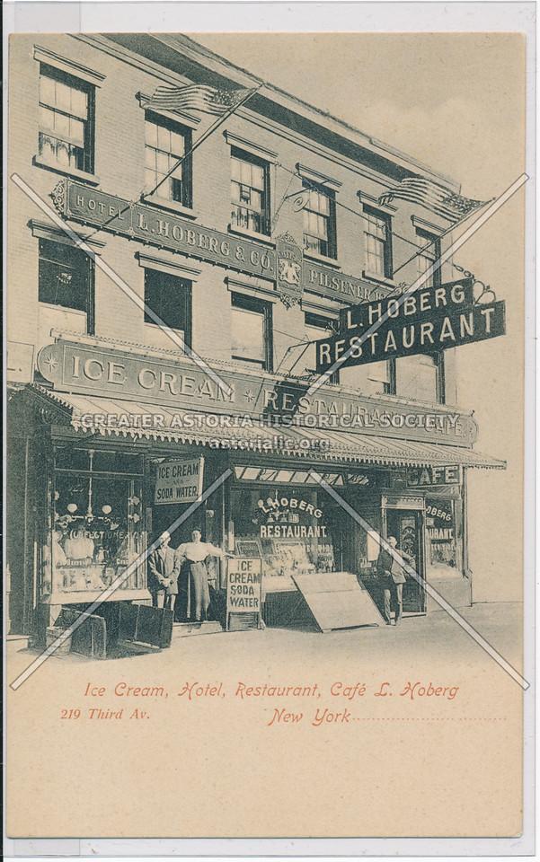 Hoberg Ice Cream, Restaurant, Café 219 Third Ave, NY