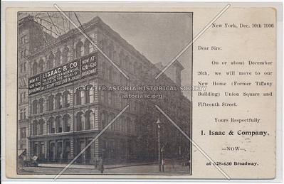 I. Isaac & Company (former Tiffany Building) 628-630 Broadway, NY