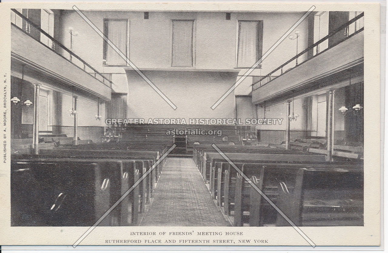 Interior of Friends Meeting House, Rutherford Pl & 15th St, NY