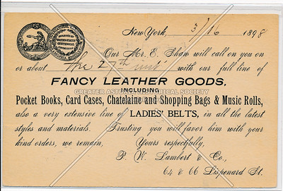 Fancy Leather Goods, 64 & 66 Lipsendard St, NY
