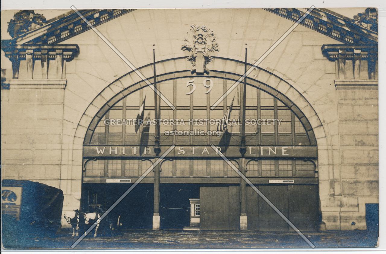White Star Line, Pier 59, East River , NY