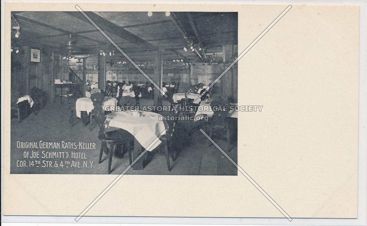 Joe Schmitt's, Hotel, Restaurant, cor 14th St and 4th Ave, NY