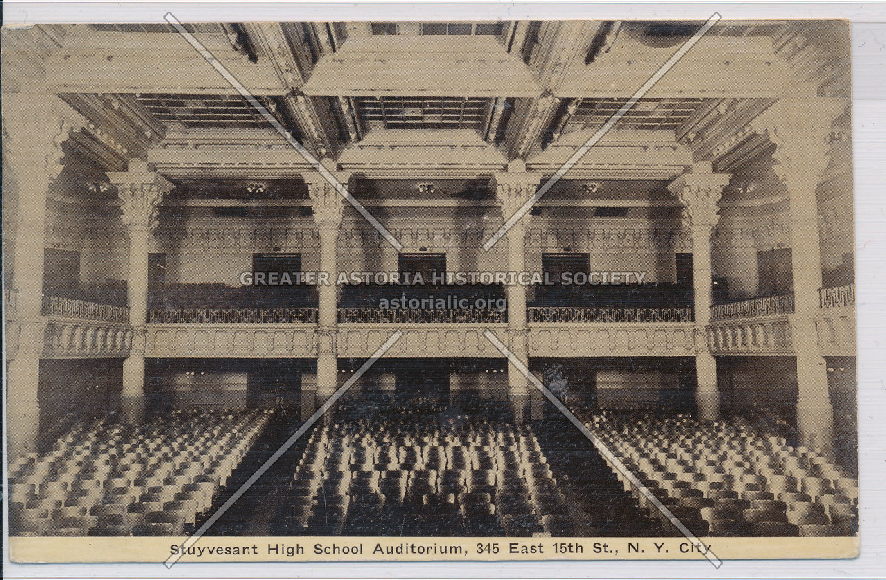 Stuyvesant High School Auditorium, 345 E 15 St, NY