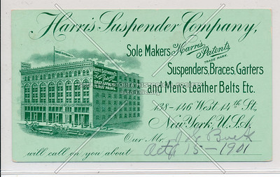Harris Suspender Co, 138-146 W 14 St, NY