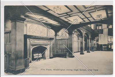 Fire Place, Washington Irving High School, NY