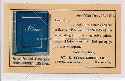 WM. E. Leuchtenberg Co. 32 Union Sq East, NY