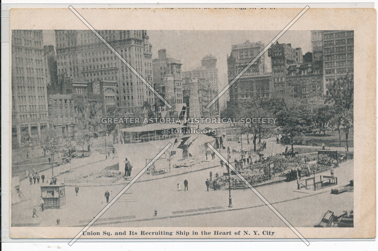 Union Sq. and Its Recruiting Ship in the Heart of NYC