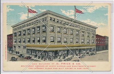 D. Price & Co, SE corner of 6th Ave & 18th St, NY