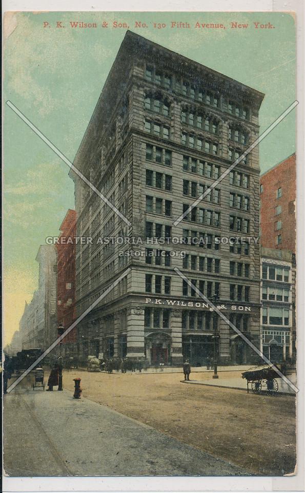 P. K. Wilson & Son, 130 Fifth Ave, NY