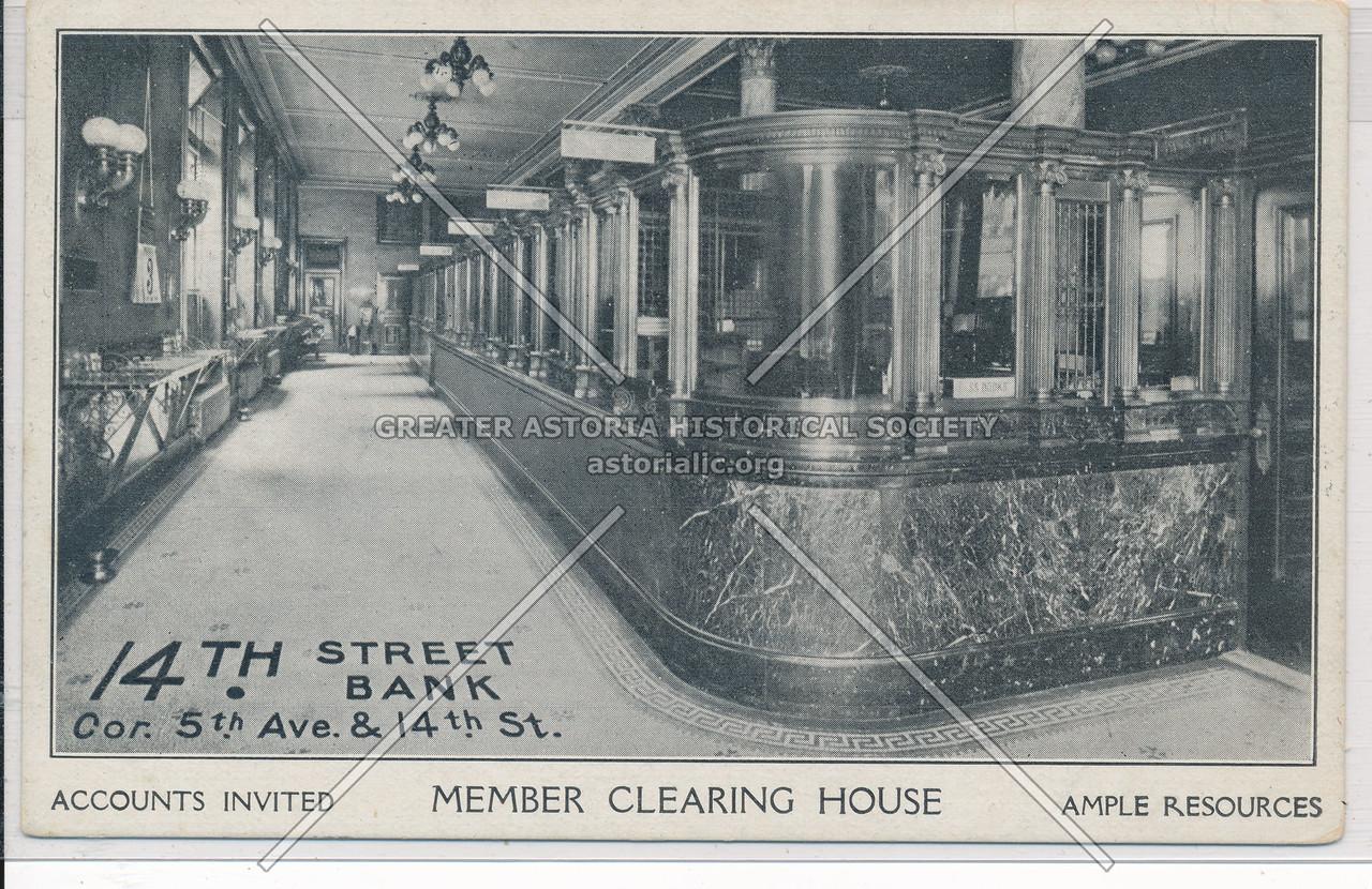 14th Street Bank Cor. 5th Ave & 14th St, NY
