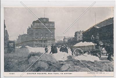 Cooper Square in Winter
