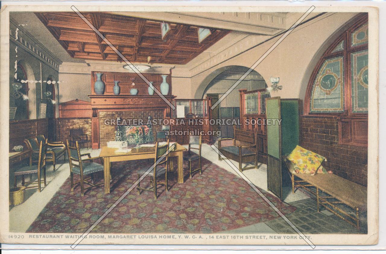 Restaurant Waiting Room, Margaret Louisa YWCA, NY