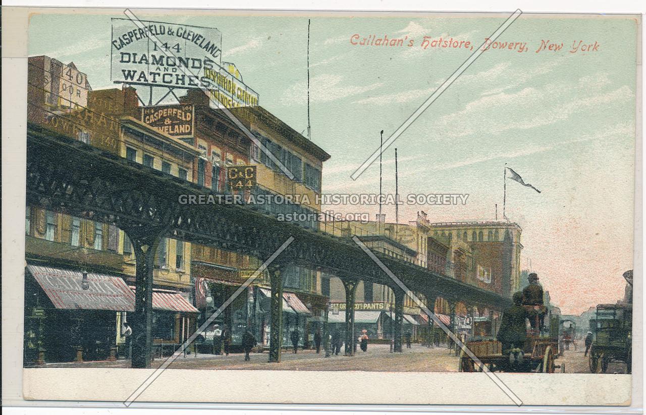 Callahan's Hatstore, 142 Bowery, NY