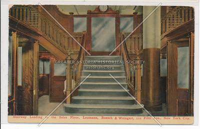 Stairway to Sales Floor, Leumann, Boesch, & Wiengert, 112 5th Ave, NY