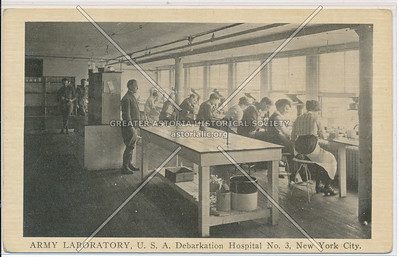 ARMY LABORATORY, U.S.A. Debarkation Hospital No. 3, New York City