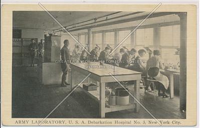 ARMY LABORATORY, U.S.A. Debarkation Hospital No. 3, New York City