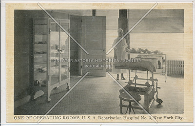 ONE OF OPERATING ROOMS, U.S.A. Debarkation Hospital No. 3, New York City