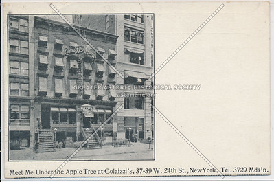 Meet Me Under the Apple Tree at Colaizzi's, 37 W 24th St, NY