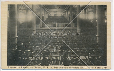 Theatre in Recreation Room, U.S.A. Debarkation Hospital No. 3, New York City
