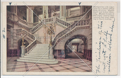Metropolitan Life Insurance Co.'s Home Marble Court Grand Stairs