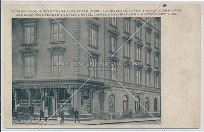 Outside View of Henry Maillard's Retail Store, B'way & 24 St, NY