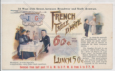 French Table D'Hote, 58 W 25th St, NY
