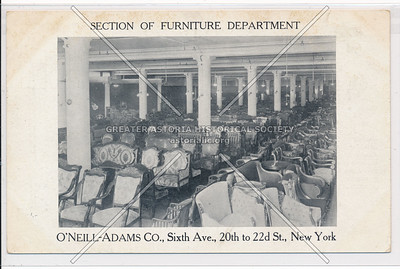 Section of Furniture Store - O'Neill-Adams Co. ,  21st St & 6th Ave, NY