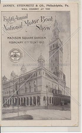 Fifth Annual National Motor Boat Show - Janney, Steinmetz & Co. , Madison Sq Garden