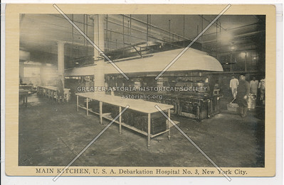 MAIN KITCHEN, U.S.A. Debarkation Hospital No. 3, New York City