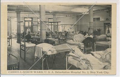 CARRELL-DAKIN WARD, U.S.A. Debarkation Hospital No. 3, New York City