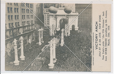 Victory Arch on 5th Ave 3/25/1919
