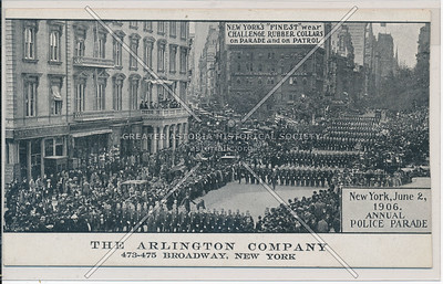 Annual Police Parade, 1906 , Arlington Co, 437 B'way, NY