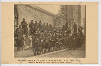French Foreign Legionnaires at the Altar of Liberty. 1918