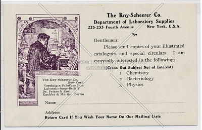 The Kny Scheerer Co., Department of Laboratory Supplies, 225 4th Ave, NYC