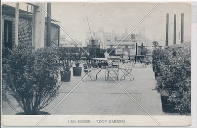 Roof Garden -The Leo House, of the St. Raphael Society 330 W 23 St, NY