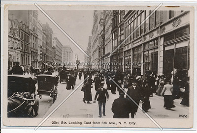 23rd St. looking East from 6th Ave., New York City