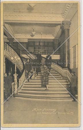 Main Stairway, U.S. Debarkation Hospital #3