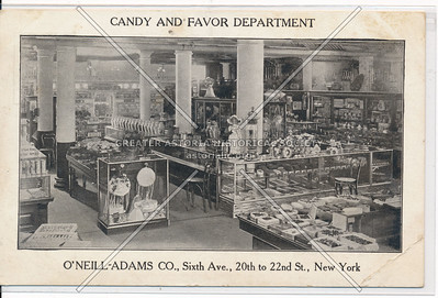 Candy and Favor Department - O'Neill-Adams Co.,  21st St & 6th Ave, NY