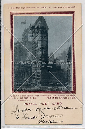 Puzzle Card - Flatiron Building before and after
