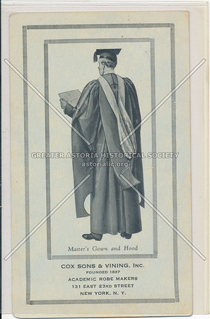 Master's Gown and Hood, Cox Sons & Vining, Inc., 131 E 23 St, NY